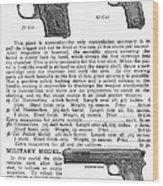 Colt Automatic Pistols Wood Print