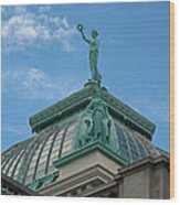Columbia Atop Memorial Hall Wood Print