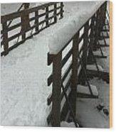 Columbia County Bridge Wood Print