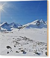 Columbia Icefield In Winter, Jasper Wood Print