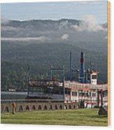 Columbia River Gorge Sternwheeler Wood Print