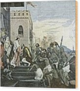 Columbus' Return From The Americas Wood Print