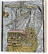 Columbus's Ship The Santa Maria Wood Print