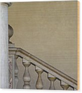 Column And Stairway At Wawel Castle In Krakow Poland Wood Print
