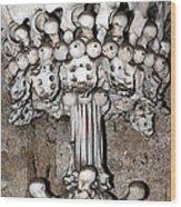 Column From Human Bones And Sku Wood Print