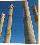 Column In Capitol In Ancient Roman City Wood Print