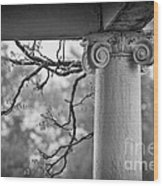 Column In Spring Wood Print by Susan Isakson