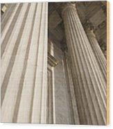 Columns Of The Supreme Court Wood Print
