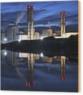 Combined Cycle Gas Turbine Power Station Wood Print