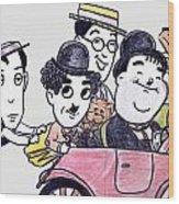 Comedians In Model T Wood Print