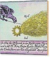 Comet, 1664 Wood Print by Detlev Van Ravenswaay