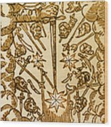 Comet, 1665 Wood Print
