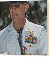 Command Master Chief Bryan Yarbro Wood Print