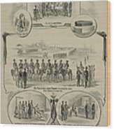 Commemorative Print Depicting The Trial Wood Print by Everett