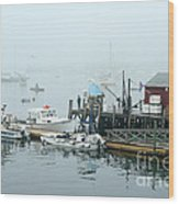 Commercial Lobster Dock Wood Print