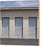 Commercial Storage Facility Wood Print