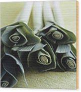 Common Leeks Wood Print