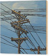 Communication Wood Print by Torrie Smiley