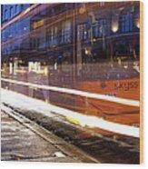 Commuter Bus Wood Print