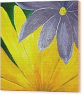 Complementary Blossoms  Wood Print