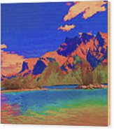Complementary Mountains Wood Print
