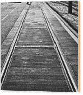 Completed Tram Rails On Princes Street Edinburgh Scotland Uk United Kingdom Wood Print by Joe Fox