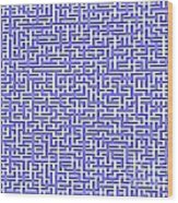 Complex Maze Wood Print