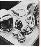 Components Of The Mercury Spacesuit Wood Print