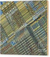 Computer Chip Wood Print