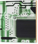 Computer Circuit Board Wood Print