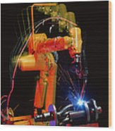 Computer-controlled Electric Arc-welding Robot Wood Print by David Parker, 600 Group Fanuc