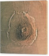 Computer-enhanced Image Of Olympus Wood Print