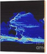 Computer Model Of Global Ocean Currents Wood Print
