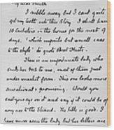 Conan Doyle: Letter Wood Print
