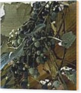 Concord Grapes Wood Print by Heather Grow