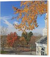 Concord Massachusetts In Autumn Wood Print
