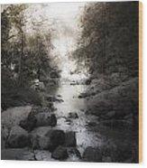 Concord River Wood Print