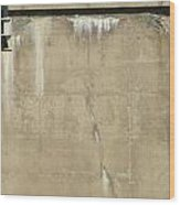 Concrete And Metal Wood Print