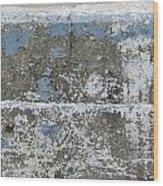 Concrete Blue 1 Wood Print