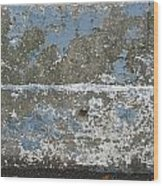 Concrete Blue 2 Wood Print