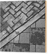Concrete Tile - Abstract Wood Print