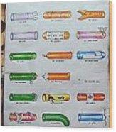 Condom Compendium Sign Thailand Wood Print