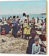 Coney Island: Beach, C1902 Wood Print
