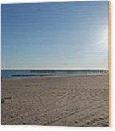 Coney Island Beach Wood Print