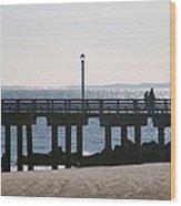 Coney Island Coast Wood Print