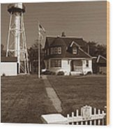 Coney Island Lighthouse Wood Print by Skip Willits