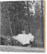 Confederate Breastworks Carnifax Ferry Wood Print