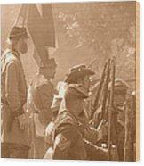 Confederate Breastworks Carnifex Ferry Wood Print by Thomas R Fletcher