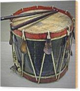 Confederate Drum Wood Print