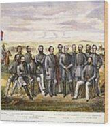 Confederate Generals Wood Print by Granger